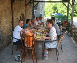The restaurant, dining outside